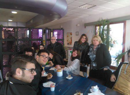 Al comune di Lamezia Terme per consegnare l'itinerario turistico